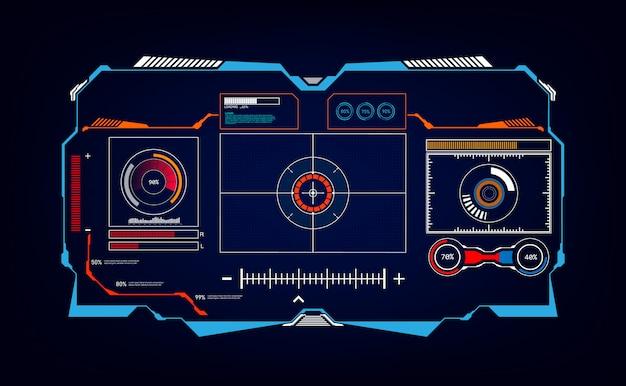 Sfondo dell'innovazione del sistema tecnologico dello schermo ui hud
