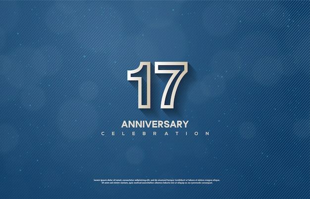 Sfondo della 17a celebrazione con numeri bianchi.