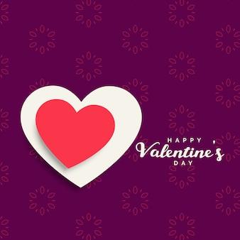 Sfondo della celebrazione di san valentino con cuore rosso e bianco