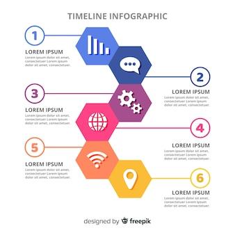 Sfondo della cronologia infografica