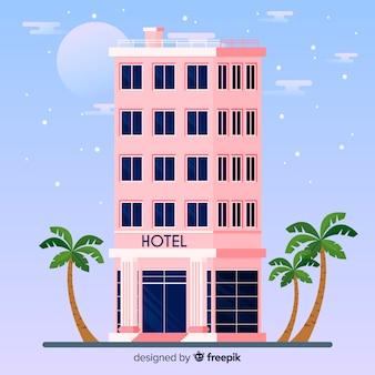 Sfondo della facciata dell'hotel piatto