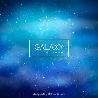 Sfondo della galassia in toni azzurri