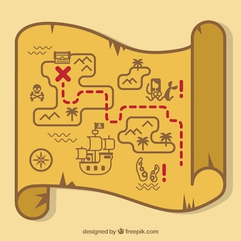Sfondo della mappa del tesoro dei pirata