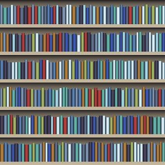 Sfondo della mensola del libro della biblioteca