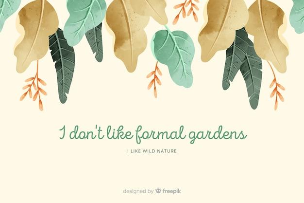 Sfondo della natura con citazione