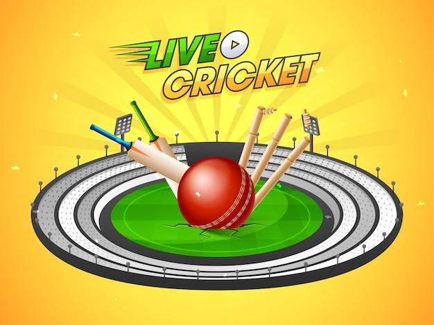 Sfondo della partita di cricket in diretta