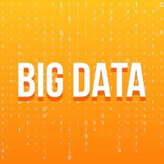 Sfondo della tecnologia big data.