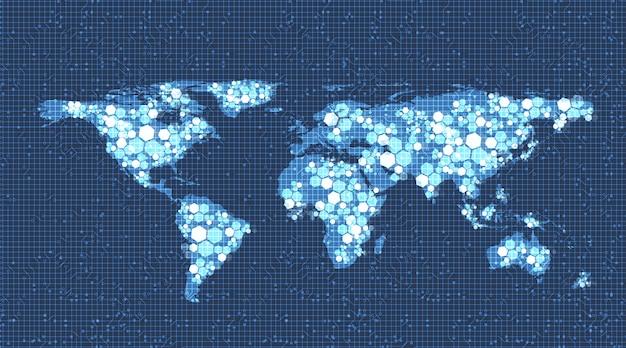 Sfondo della tecnologia del sistema di rete globale
