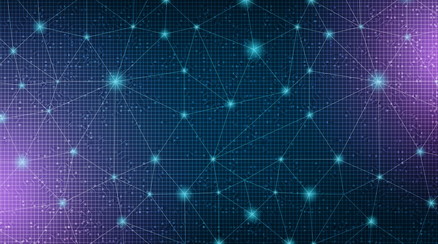 Sfondo della tecnologia del sistema digital link network