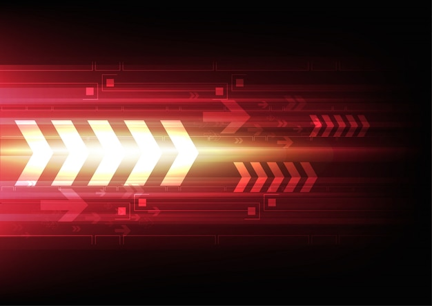 Sfondo della tecnologia di freccia