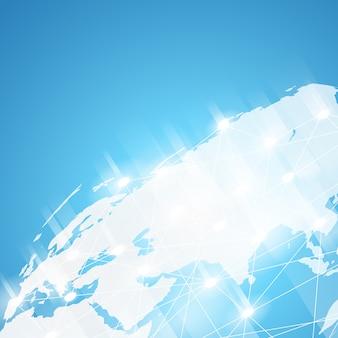 Sfondo della tecnologia mondiale