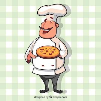 Sfondo della tovaglia dello chef con lo chef