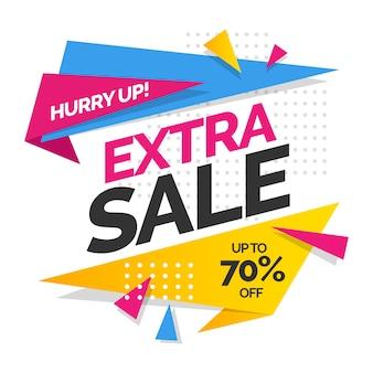 Sfondo delle vendite con vendita extra