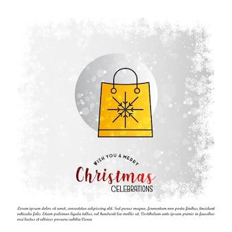 Sfondo dello shopping natalizio