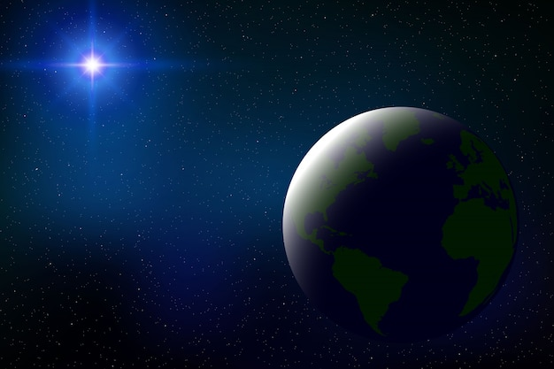 Sfondo dello spazio con eclissi solare totale per il tuo design