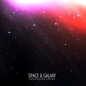 Sfondo dello spazio con la luce delle stelle luminose