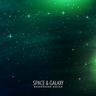 Sfondo dello spazio con luci verdi