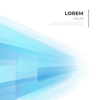 Sfondo di affari moderni con forme blu