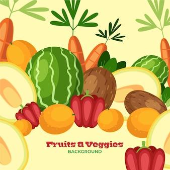 Sfondo di alimenti sani