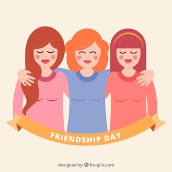 Sfondo di amici felici