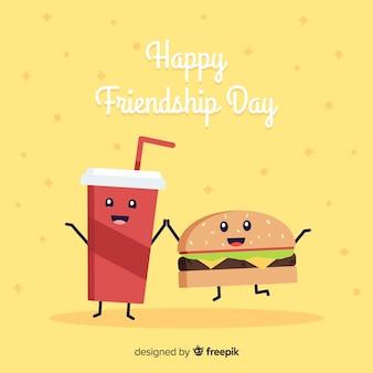 Sfondo di amicizia giorno stile kawaii