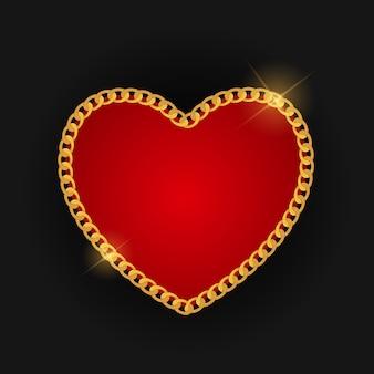 Sfondo di amore cuore catena