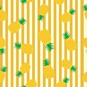 Sfondo di ananas modello