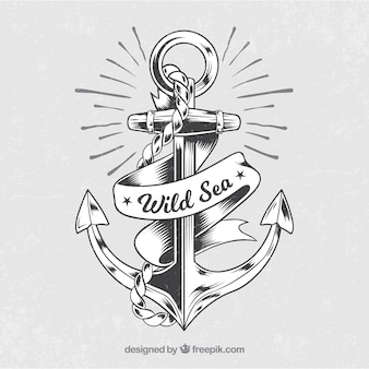 Sfondo di ancoraggio vintage