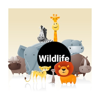 Sfondo di animali selvatici