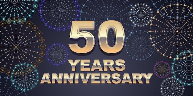 Sfondo di anniversario di 50 anni.