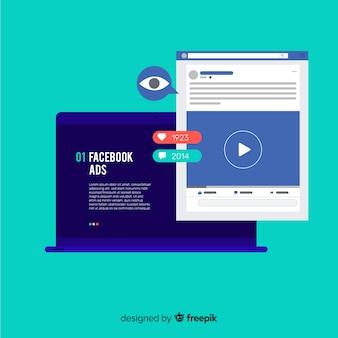 Sfondo di annunci di facebook