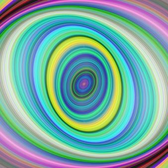 Sfondo di arte digitale frattale ellittica colorata