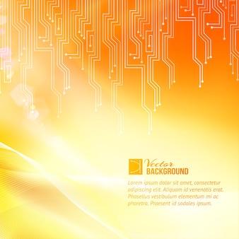 Sfondo di astrazione del circuito colorato con modello di testo di esempio