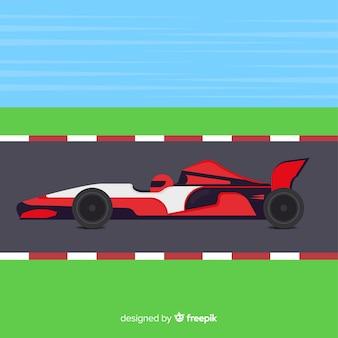 Sfondo di auto da corsa di formula 1