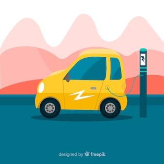 Sfondo di auto elettrica