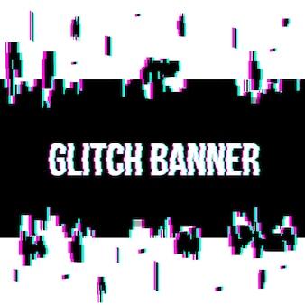 Sfondo di banner distorto stile glitch.