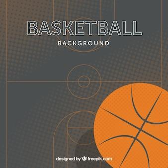 Sfondo di basket in design piatto