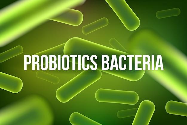 Sfondo di batteri microscopici robiotici.