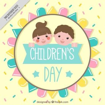 Sfondo di bei bambini in colori pastello
