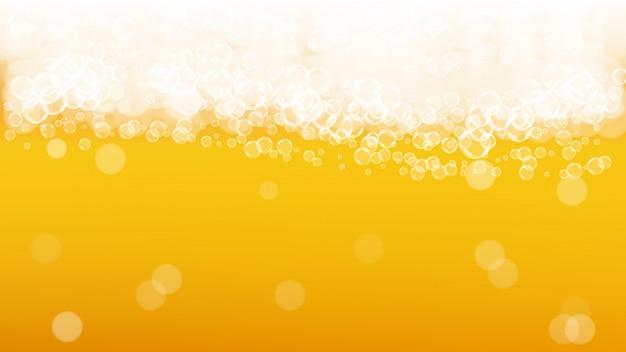 Sfondo di birra con bolle realistiche