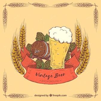 Sfondo di birra d'epoca