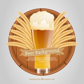 Sfondo di birra realistico