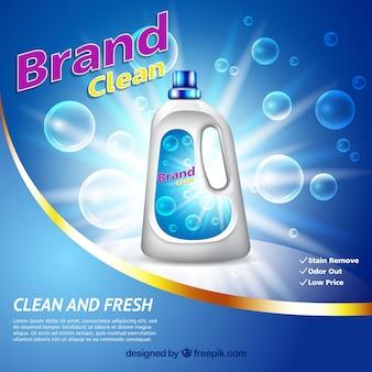 Sfondo di bolla con detergente