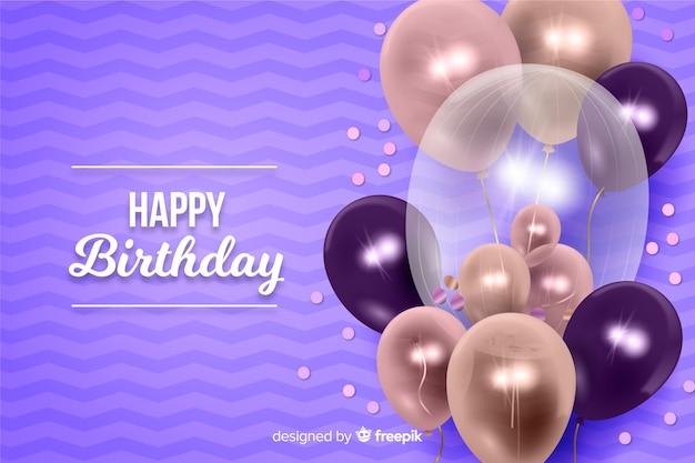 Sfondo di buon compleanno con palloncini