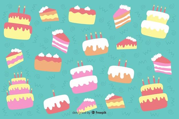 Sfondo di buon compleanno disegnati a mano