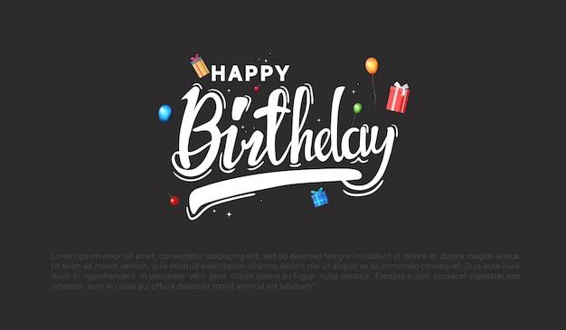 Sfondo di buon compleanno per la festa