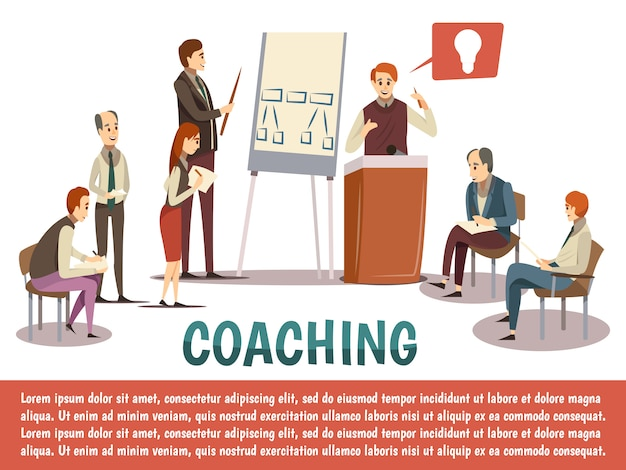 Sfondo di business coaching