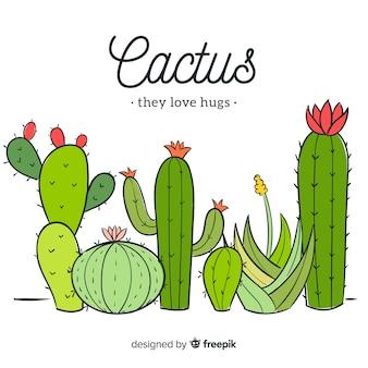 Sfondo Di Cactus Foto E Vettori Gratis
