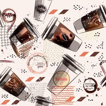Sfondo di caffè pattern