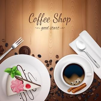 Sfondo di caffetteria superiore